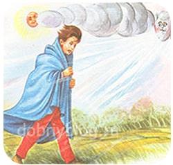 Кто сильнее ветер или солнце