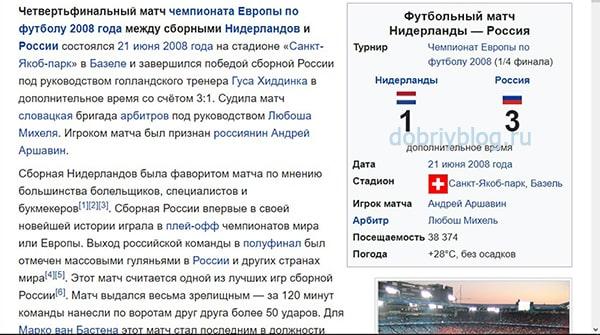 Голландия - Россия 1-3
