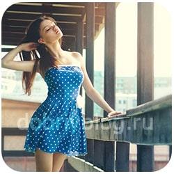 красивая девушка в лёгком платье
