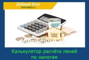 Калькулятор расчёта пеней по налогам
