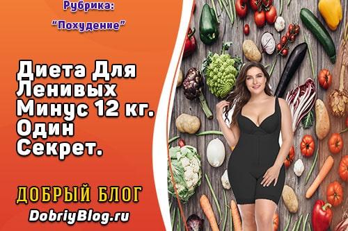 диета для ленивых минус 12 за месяц