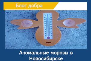 Аномальные морозы в Новосибирске