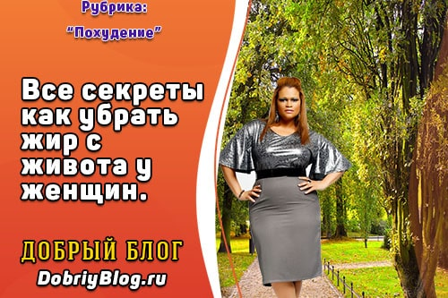 Все секреты как убрать жир с живота у женщин.