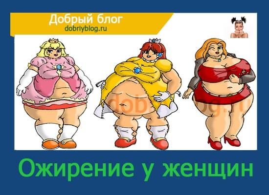 Ожирение 1 степени женщин