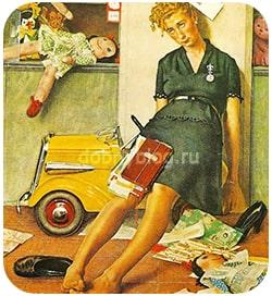 Уставшая женщина - как всё отпустить