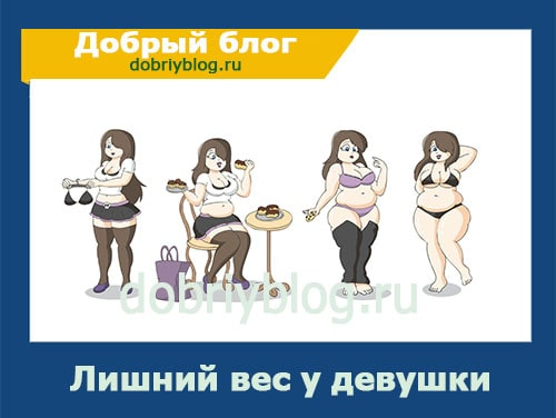 Лишний вес у девушки