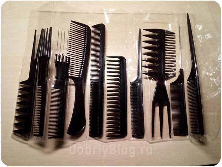 Набор расчёсок для парикмахерских