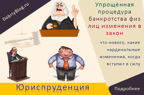 Упрощённая процедура банкротства физ лиц